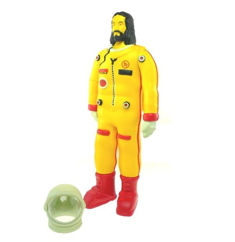 Astronaut Jesus - OG figure by Doma, produced by Adfunture. Front view.
