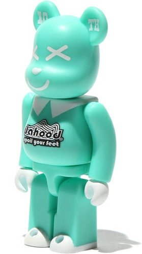 Dahood 10th Aniversary Be@rbrick 100% figure, produced by Medicom Toy. Front view.