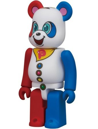 Pirameki Panda - Animal Be@rbrick Series 22 figure by Yoshimoto Kogyo, produced by Medicom Toy. Front view.