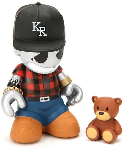 KidGangster figure, produced by Kidrobot. Front view.