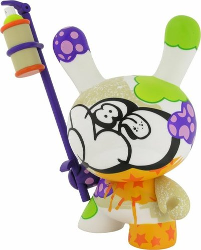 Tag - 8 Dunny figure by Cycle, produced by Kidrobot. Front view.