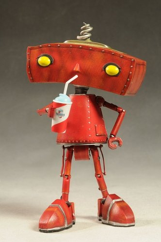 Bad Robot figure by J. J. Abrams, produced by Quantum Mechanix. Front view.