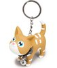 Brown and White Keyring Kat