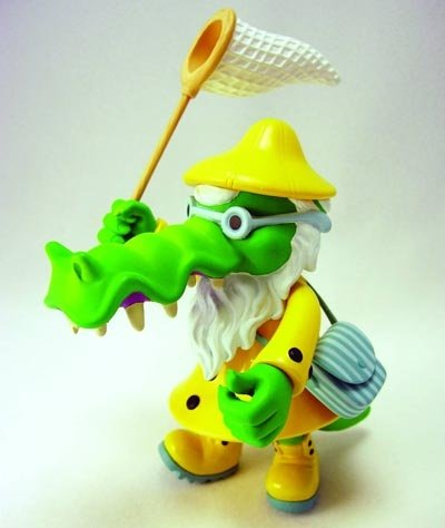 Edward the Gator - Yellow figure by Bwana Spoons, produced by Max Toy Co.. Front view.