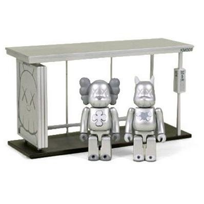 KAWS Bus Stop Kubrick - Set 5  figure by Kaws, produced by Medicom Toy. Front view.