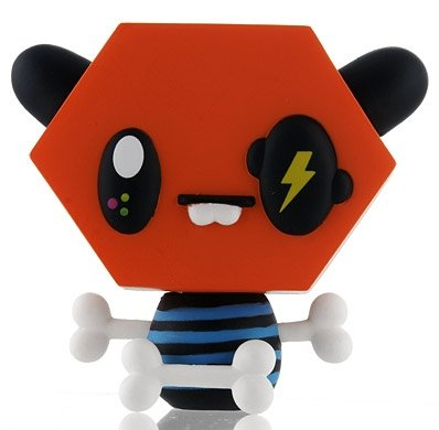 Mo figure by Tado, produced by Kidrobot. Front view.