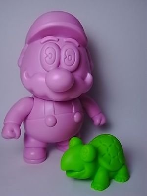 Pink Mario Set figure by Gargamel, produced by Gargamel. Front view.