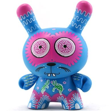 Peyote figure by Vm06, produced by Kidrobot. Front view.