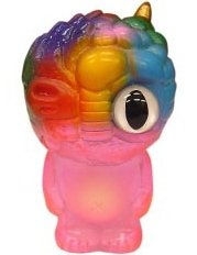 Chaos Q Bean - Clear Pink Painted figure by Mori Katsura, produced by Realxhead. Front view.