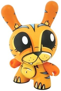 Tiger Dunny 8 inch - Chase figure by Joe Ledbetter, produced by Kidrobot. Front view.