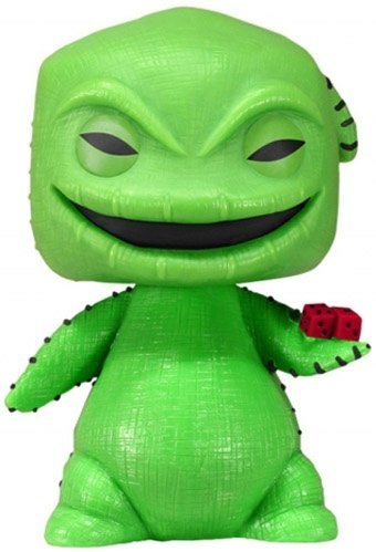 Oogie Boogie  figure by Disney, produced by Funko. Front view.