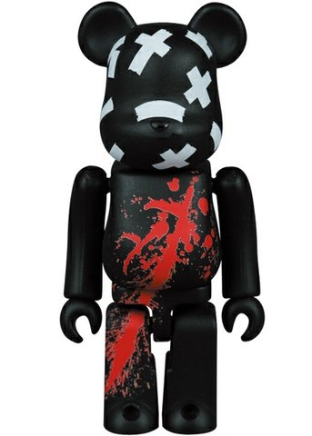 Sin City Be@rbrick 100% figure by Frank Miller, produced by Medicom Toy. Front view.