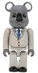 Horror Executive Koala - Secret Be@rbrick figure, produced by Medicom Toy. Front view.