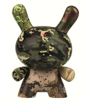 Tic Tic Boom Dunny figure by Ssur, produced by Kidrobot X Swatch. Front view.