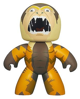 Sabretooth figure, produced by Hasbro. Front view.