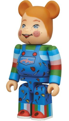 Child's Play 2 - Horror Be@rbrick Series 25 figure, produced by Medicom Toy. Front view.