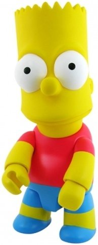 Bart Simpson Qee 10 - Classic  figure by Matt Groening, produced by Toy2R. Front view.