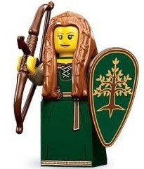 Forest Maiden figure by Lego, produced by Lego. Front view.