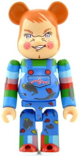 Child's Play 2 - Secret Horror Be@rbrick Series 25 figure, produced by Medicom Toy. Front view.