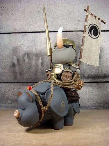 The Rhino Poacher figure by Huck Gee. Front view.