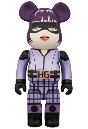 Hit Girl Be@rbrick 400% figure, produced by Medicom Toy. Front view.