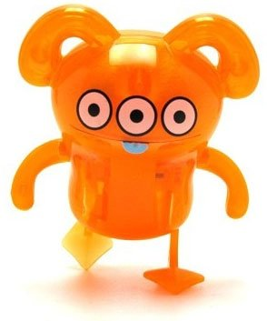 Peaco - Orange figure by David Horvath, produced by Pretty Ugly Llc.. Front view.