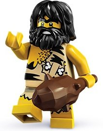 Caveman figure by Lego, produced by Lego. Front view.