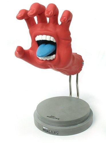 Screaming Hand figure by Jim Phillips, produced by Made By Monsters. Front view.