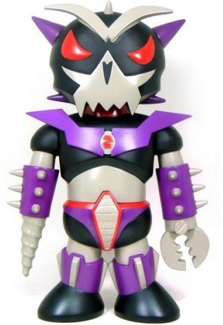Toyer Enemy figure by Frank Kozik, produced by Toy2R. Front view.