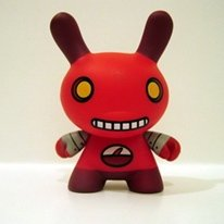 2 Face Dunny (MIX104) figure by David Horvath, produced by Kidrobot. Front view.