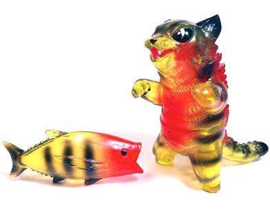 Kaiju Negora - Flabslab Exclusive figure by Mark Nagata, produced by Max Toy Co.. Front view.
