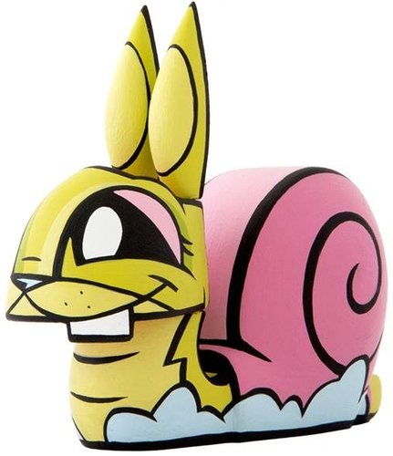 Snail Bunny figure by Joe Ledbetter, produced by The Loyal Subjects. Front view.