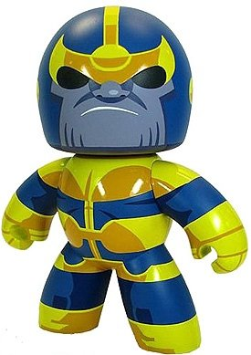 Thanos figure, produced by Hasbro. Front view.