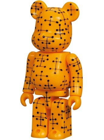 Eames - Pattern Be@rbrick Series 9 figure by Eames Office, produced by Medicom Toy. Front view.