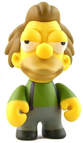 Lenny figure by Matt Groening, produced by Kidrobot. Front view.
