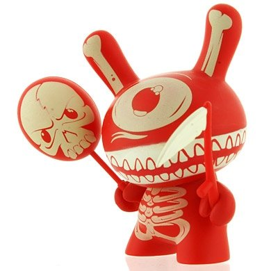 Mimic Dunny figure by Mimic, produced by Kidrobot. Front view.