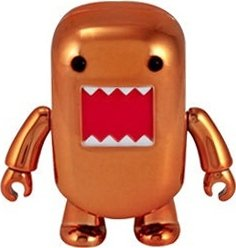 Metallic Orange Domo Qee figure by Dark Horse Comics, produced by Toy2R. Front view.