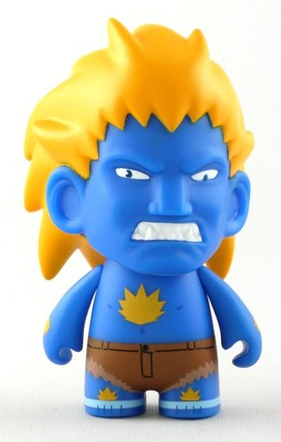 Blanka - Blue figure by Capcom, produced by Kidrobot X Capcom. Front view.