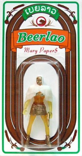 Mary Paper$ - Beerlao Edition figure by Sucklord, produced by Suckadelic. Front view.