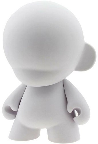 Mega Munny - DIY White figure, produced by Kidrobot. Front view.
