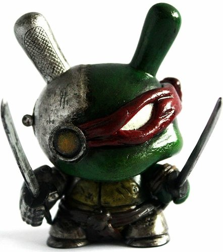 MECHA-RAPHAEL figure by Don P, produced by Kidrobot. Front view.