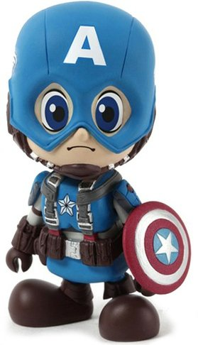 Captain America figure by Marvel, produced by Hot Toys. Front view.