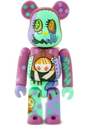 Gekidan Inu Curry - Secret Horror Be@rbrick Series 24 figure by Gekidan Inu Curry, produced by Medicom Toy. Front view.