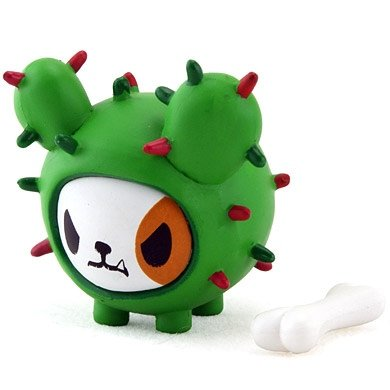 Bastardino Jr. figure by Simone Legno (Tokidoki), produced by Strangeco. Front view.