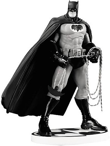 Batman Black and White by Frank Miller 2nd Edition Statue figure by Frank Miller, produced by Dc Direct. Front view.