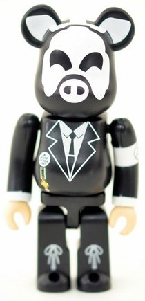 Secret Artist Be@rbrick - AA= (aaequal) figure by Aa= (Aaequal), produced by Medicom Toy. Front view.