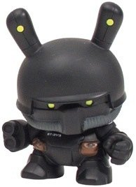SWAT Heavy Trooper figure by Huck Gee, produced by Kidrobot. Front view.