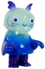 Steven the Bat - Iceberg Blue GID figure by Bwana Spoons, produced by Super7. Front view.