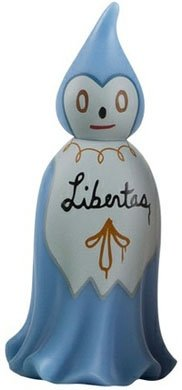 Freedom figure by Gary Baseman, produced by Kidrobot. Front view.