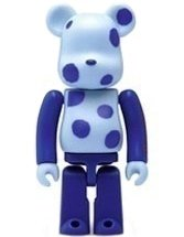Hi Life x Jimmy SPA Be@rbrick 100% - Type E figure by Jimmy Liao, produced by Medicom Toy. Front view.